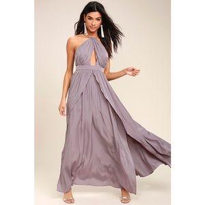 LULU'S | On My Own Dusty Purple Maxi Dress